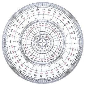 コンサイス 全円分度器 直径18cm C-18 360度 デザイン 製図 文具 事務用品