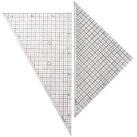 コンサイス 方眼三角定規 セット 30cm ネオセクションスケール300 45度 60度【メール便可】 ものさし 文房具 事務用品 製図