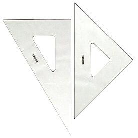 コンサイス 三角定規 セット 30cm 無地 2mm厚 230T 45度 60度【メール便可】 ものさし 文房具 事務用品 製図