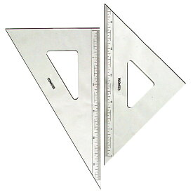 コンサイス 三角定規 セット 30cm 目盛り付 2mm厚 230TM 45度 60度ものさし 文房具 事務用品 製図