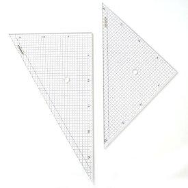 コンサイス 三角定規 セット 30cm 5mm方眼入 330T-5 45度 60度ものさし 文房具 事務用品 製図