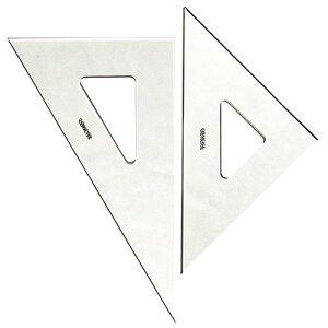 コンサイス 三角定規セット 30cm 無地 3mm厚 330T 45度 60度【メール便可】 ものさし 文房具 事務用品 製図