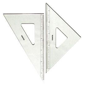コンサイス 三角定規 セット 30cm 目盛り付 3mm厚 330TM 45度 60度ものさし 文房具 事務用品 製図