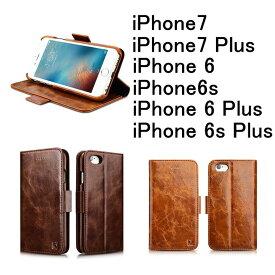 bc956114f6 iPhone7 iPhone7plus ケース ポケット マグネット 高機能性 収納 高級 オイル レザー 革 case カバー ビジネス  iPhone6/6plusカバー 手帳型 オイルレザー 本革 背面+ ...