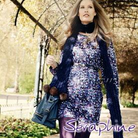 【ガーゼマスクプレゼント対象商品】マタニティ Seraphine セラフィン Alessandra マタニティワンピース−小花柄 サイズ:8(日本サイズ7〜9号)