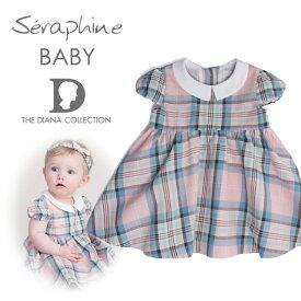 Seraphine BABY セラフィン ベビー ROSE COTTON ピンクタータンのコットンワンピース  サイズ:12ヶ月・18ヶ月