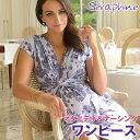 再入荷!【送料無料】【平日あす楽】Seraphine セラフィン Blossom SSノットフロントプリントワンピース 半袖−ラベ…