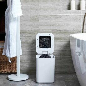 TOWNEW 世界初ロボット型スマートゴミ箱 ホワイト ミント 15.5L 全自動型ゴミ処理機 非接触型 自動感知 自動梱包 自動交換 ※半透明ゴミ袋付