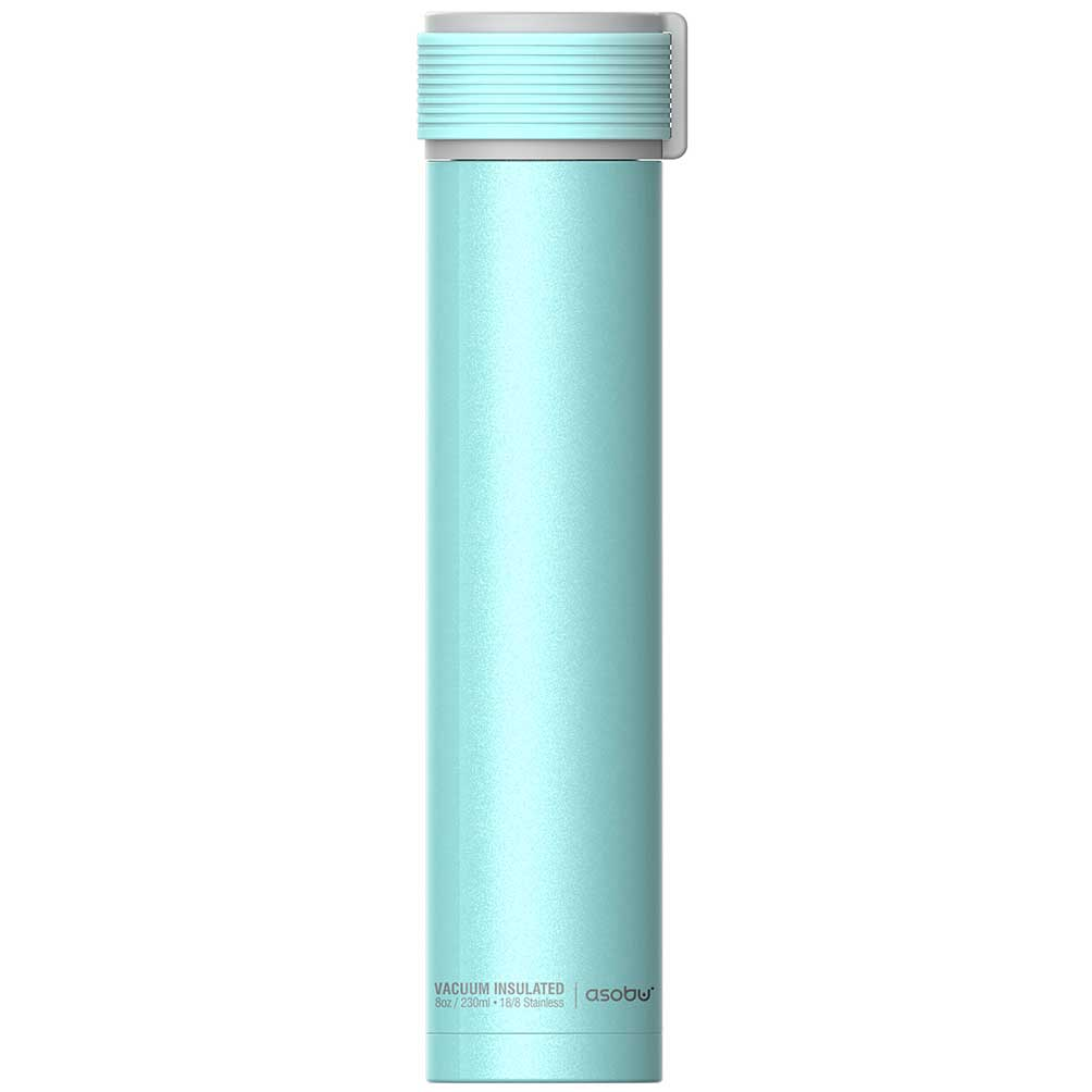 水筒 asobu ファッションボトル SKINNY MINI 230ml ステンレスボトル 直飲み 保温保冷 真空断熱 おしゃれ アソブ ウォーターボトル スキニーミニ ブルー