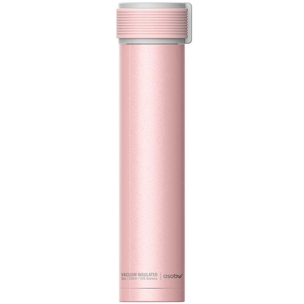 水筒 asobu ファッションボトル SKINNY MINI 230ml ステンレスボトル 直飲み 保温保冷 真空断熱 おしゃれ アソブ ウォーターボトル スキニーミニ ピンク