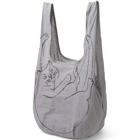 【2500円以上で送料無料】エコバッグ ルートート ルーショッパー マルシェ 猫グッズ 猫のイラストかわいい! ROOTOTE ROO-shopper グランデ グレー
