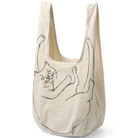 【2500円以上で送料無料】エコバッグ ルートート ルーショッパー マルシェ 猫グッズ 猫のイラストかわいい! ROOTOTE ROO-shopper グランデ ナチュラル