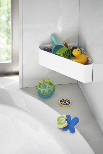 小物入れ山崎実業TOWERマグネットバスルームコーナーおもちゃラック浴室収納ラック壁面収納簡単取り付けのバスシリーズ!YAMAZAKIタワーホワイト