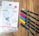 【限定販売・10セット】ABTハンドレタリング スターターセット水性マーカーABT ハンドレタリング練習ブックお買い得 数量限定 トンボ鉛筆