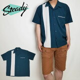 SteadyClothing/ステディクロージングボウリングシャツ半袖シャツBOWLINGSHIRTSメンズアメリカ製