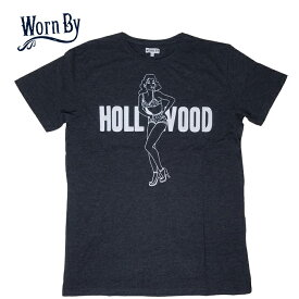 【SALE】Worn By/ウォーンバイ「HOLLYWOOD」Tシャツ【Worn By Tシャツ メンズ】