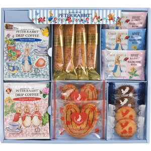 ピーターラビット お菓子 ギフト クッキー パイ ラスク コーヒー ギフトセット 出産祝い 結婚祝い ギフト 内祝い 詰め合わせ かわいい 子供 プレゼント キャラクター 食べ物 食品 送料無料 PR