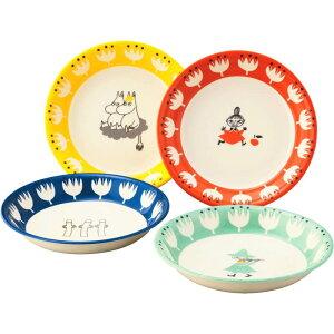 ムーミン 食器 ギフト パスタ皿 4点セット 磁器 お皿 パスタプレート おしゃれ 北欧 可愛い ギフトセット 出産祝い 結婚祝い ギフト 内祝い お祝い 日本製 ミイ スナフキン ニョロニョロ MOOMIN