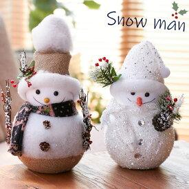 雪だるま スノーマン オブジェ 置物 クリスマス 飾り インテリア 雑貨 北欧 クリスマスプレゼント 可愛い おしゃれ かわいい 季節 送料無料 あす楽