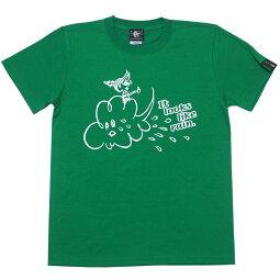 RainTシャツ(グリーン)BPGTsp016tee-gr-Z完-半袖緑色レイン雨あめイラストかわいい可愛いポップキャラクターカジュアルメンズレディースペアユニセックス春夏秋服コーデ大きめサイズコットン綿100%Tシャツ屋さんバンビ【RCP】