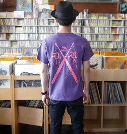 DrumRocker1(ドラムロッカー)Tシャツ(V.パープル)BPGTsp030tee-pu-GR-半袖トップス楽器ロックTシャツバンドTシャツかっこいいアメカジオリジナルメンズレディースユニセックス大きめサイズ紫色春夏秋服コーデ【RCP】