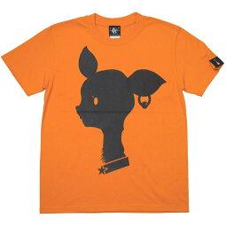 BambiMarkTシャツ(オレンジ)BPGTsp080tee-or-Z完-半袖橙色ばんび子鹿アニマルロゴマークかわいいオリジナルアメカジカジュアルメンズレディースユニセックス春夏秋服コーデコットン綿100%Tシャツ屋さんバンビ【RCP】