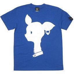 BambiMarkTシャツ(ロイヤルブルー)BPGTsp080tee-rb-G完-半袖青色ばんび子鹿アニマルロゴTeeロゴマーク可愛いオリジナルアメカジカジュアルメンズレディースユニセックス春夏秋服コーデコットン綿100%Tシャツ屋さんバンビ【RCP】