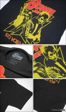 1972WorldTourTシャツ(DavidBowieデヴィッドボウイ)-IMPACT-db-wt72-bk-G-アーティストロックROCKロックTシャツワールドツアー1972グラムロックメンズユニセックス半袖ブラック黒色セレクトアイテムファッション【RCP】