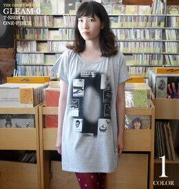 Gleam 0(ゼロ) Tシャツワンピース The Ghost Writer tgw023opt-Z完- 半袖 トップス ロック ストリート カジュアル グラフィック Punk Rock 可愛い かわいい ガールズ レディースファッション グレー Mサイズ オリジナルブランド【RCP】