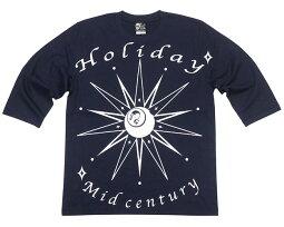 HOLIDAY(ホリデー)ハーフスリーブTシャツ-TheGhostWriter-tgw027hst-G-5分袖アメカジカジュアルストリートスカルロックグラフィックプリントメンズレディースかっこいい大きいサイズネイビー紺色【RCP】