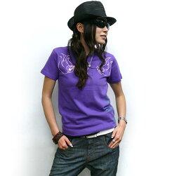 イレズミTシャツ-HARIKENハリケンhar004tee-Z完-半袖刺青タトゥーイラストパンクロックTシャツコラボかっこいいストリートアメカジカジュアルオリジナルメンズレディースユニセックスホワイトパープル白紫色大きいサイズ綿100%【RCP】
