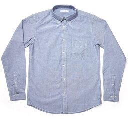 オックスフォードBDシャツ(ブルー)-VINTAGEELヴィンテージイーエル-sh75201s-bu73-G-長袖シャツOXシャツボタンダウンシャツYシャツトップスカジュアルきれいめかっこいい定番コーデメンズファッション青色【RCP】