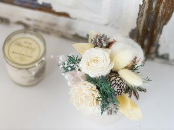 プリザーブドフラワーの白いバラ