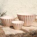 【植木鉢】【テラコッタ】サフィ E34W 3点セット【植木鉢 おしゃれな植木鉢 鉢 テラコッタ 素焼き鉢 陶器鉢】