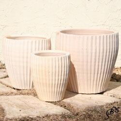 【おしゃれな植木鉢】【テラコッタ】サフィ 36W 3点セット【植木鉢 おしゃれな植木鉢 鉢 テラコッタ 素焼き鉢 陶器鉢】