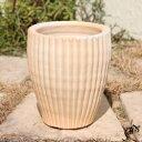 サフィ 36W Sサイズ  ≪植木鉢/陶器/白系テラコッタ/素焼き鉢≫