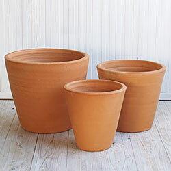 【植木鉢】【テラコッタ】テラコッタ E23 3点セット【植木鉢 おしゃれな植木鉢 鉢 テラコッタ 素焼き鉢 陶器鉢】