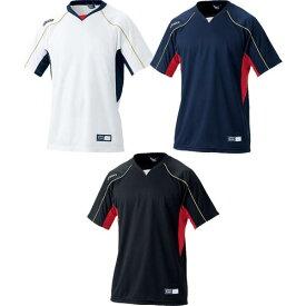 アシックス Vネック ベースボールTシャツ BAD009