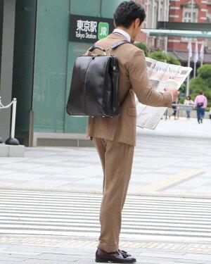 ダレスバッグドクターズバッグレザーメンズ日本製豊岡ビジネスリュックビジネスバッグ3way軽量防水ダレスリュックドクターズバッグ出張自転車通勤スーツに合うリュックA4B4PCバッグY3XLYOUTAヨータ縦型XLサイズ