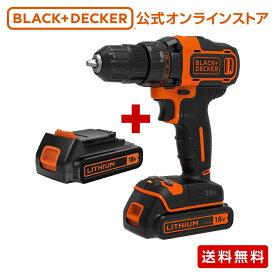 【ポイント15倍】 ブラックアンドデッカー (公式) BDCDD186K2 18Vリチウム コードレスドリルドライバー 正規品