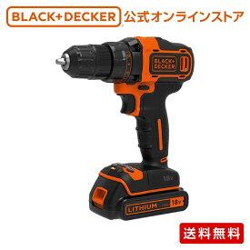 【ポイント14倍】 ブラックアンドデッカー (公式) BDCDD186K 18Vリチウム コードレスドリルドライバー 正規品