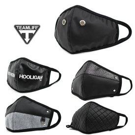 TEAM LIFE(チームライフ) 黒 マスク ブラックマスク ファッション ストリート B系 メンズ レディース ヒップホップ BLACK 花粉 V系 ビジュアル系 韓国