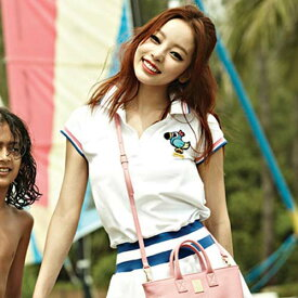 【正規品】PANCOAT パンコート キャラクター T-シャツ POPPARROT WAISTBAND ONEPIECE (WHITE) KARA (ハラ着用) 半袖 夏 Tシャツ レディース Girl