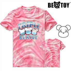 【送料無料】[正規品]BEATOY Triple Beatoy pinkT-シャツ 半袖 メンズ レディース 夏【韓国雑貨】T-シャツ 半袖 tシャツ レディース 半袖 ロゴ メンズ 半袖 プリント ストリート 半袖T-シャツ