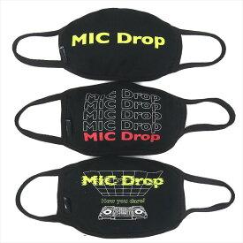 BTS 防弾少年団 バンタン 公式グッズ マスク 3枚1セット MIC Drop レディース メンズ 公式ライセンス 韓国 K-POP