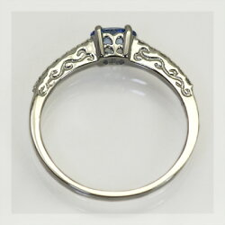 限定1本プラチナ900製ベニトアイト×ダイヤモンド「フレーミング」リング誕生石4月