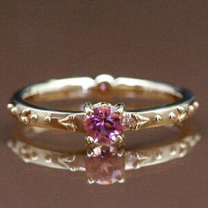 全品ポイント10倍 ピンクトルマリンリング「リリウム」 誕生石 10月 春色ピンク