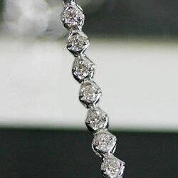 【送料無料】重ねて着けたい!0.5ct繊細ダイヤモンドブレスレット※こちらの商品はご注文頂いてからお届けまで約1ヶ月お時間がかかります。【smtb-m】