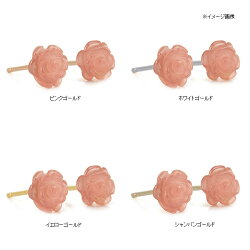 6mmインカローズ薔薇ピアス【送料無料】