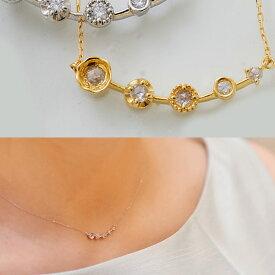 【全品ポイント10倍】 あす楽 ダイヤモンドネックレス「kaleido カレイド」 K18  誕生石 4月